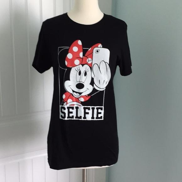 Minnie Mouse Selfie Short Sleeve T Shirt